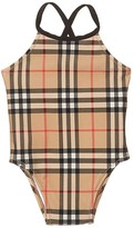Burberry Crina Check Swimsuit (Infant/Toddler) (Archive Beige IP Check) Girl's Swimsuits One Piece