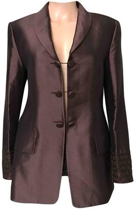 Guy Laroche Brown Silk Jacket for Women