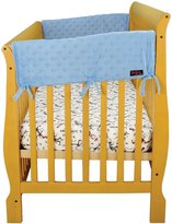 Trend Lab Velour CribWrap Rail Covers for Crib Sides (Set of 2)