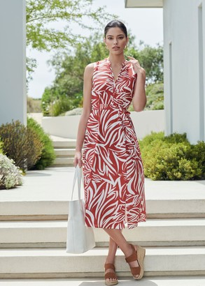 Hobbs Shelly Printed Belted Dress