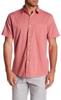Grayers Stalham Poplin Windowpane Regular Fit Short Sleeve Shirt