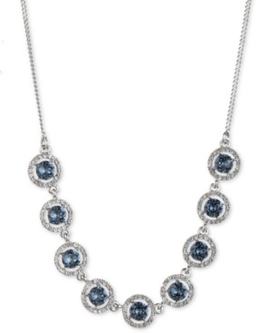 """Givenchy Silver-Tone Stone & Crystal Statement Necklace, 16"""" + 3"""" extender"""