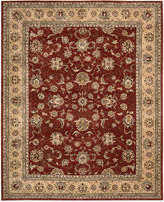 "Nourison Wool & Silk 2000 2203 Brick 5'6"" x 8'6"" Area Rug"