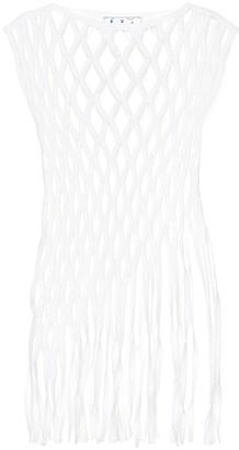 Off-White Cotton-blend macramA top