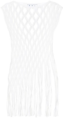 Off-White Cotton-blend macrame top