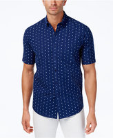 Club Room Men's Print Seersucker Cotton Shirt, Only at Macy's