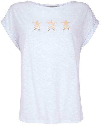 Mint Velvet White Military Star T-Shirt