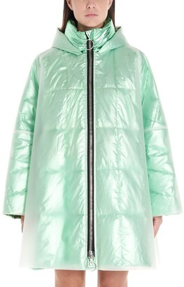 Ienki Ienki Pyramide Iridescent Quilted Hooded Raincoat