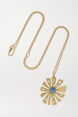 Brooke Gregson 18-karat Gold, Sapphire And Diamond Necklace - One size