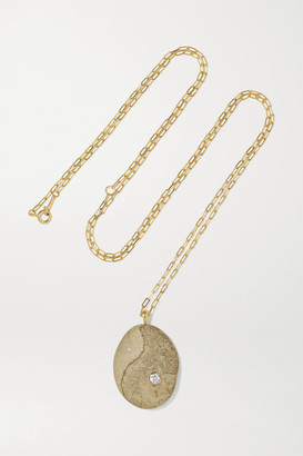 Cvc Stones Binary 18-karat Gold, Stone And Diamond Necklace