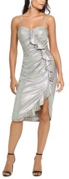 Xscape Evenings Metallic Ruffled Sheath Dress