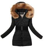 SODIAL(R) 2014 Women's padded winter warm fur collar jackets coat jacket S M L X