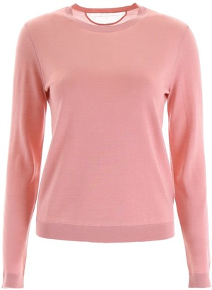 RED Valentino Pullover With Plumetis Insert