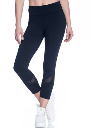 Gaiam Women's Om Mesh Capri Yoga Leggings