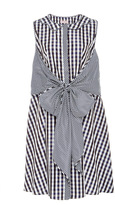 Dice Kayek Dual Gingham Sleeveless Dress