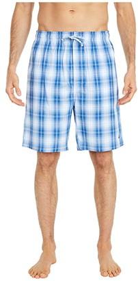 Nautica Sleep Plaid Shorts (Light Haze) Men's Pajama