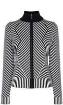 Karen Millen Striped Knitted Cardigan
