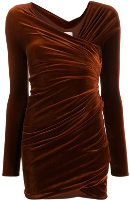 Alexandre Vauthier fitted draped dress