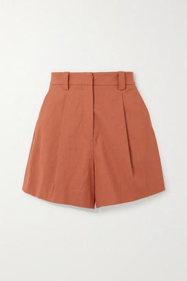 A.L.C. X Petra Flannery Huxley Linen-blend Shorts - Orange