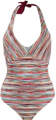 Missoni Mare Halter Neck Striped One Piece