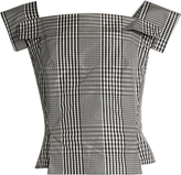 Vivienne Westwood Bettle checked taffeta square-neck top