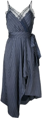 Jonathan Simkhai Emma asymmetric stripe-print dress