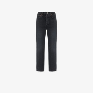 RE/DONE Stovepipe Raw Hem Jeans