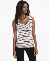 White House Black Market Striped Shell Top