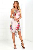 O'Neill Rosette Blush Pink Floral Print Dress