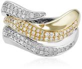 Effy Jewelry Effy Duo 14K White and Yellow Gold Diamond Ring, 0.68 TCW