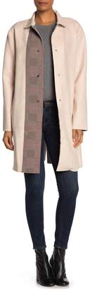 Blvd Faux Suede Buttoned Peacoat