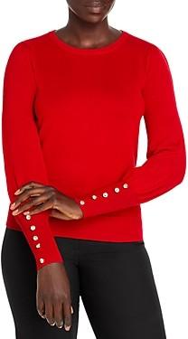 T Tahari Blouson Sleeve Crewneck Sweater