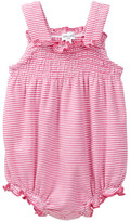 Splendid Striped Smocked Bubble Bodysuit (Baby Girls)