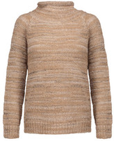 Joie Charis Metallic Marled Stretch-Knit Turtleneck Sweater