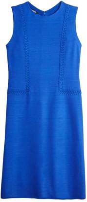 Misook Cross Stitch Flare Knit Dress