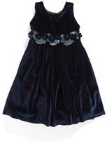 Isabel Garreton Velvet A-Line Dress (Baby Girls)