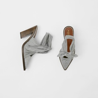 Burberry Scarf Tie Detail Jersey Point-toe Mules