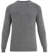 Iris von Arnim Crew-neck ribbed-knit cashmere sweater