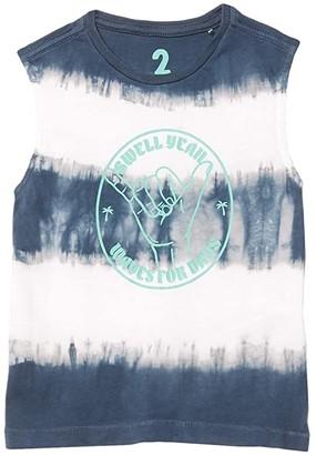 Cotton On Otis Muscle Tank (Toddler/Little Kids/Big Kids) (Ombre Blue Tie-Dye Print/Swell) Boy's Clothing