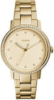 Fossil Women's Neely Gold-Tone Stainless Steel Bracelet Watch 35mm ES4289