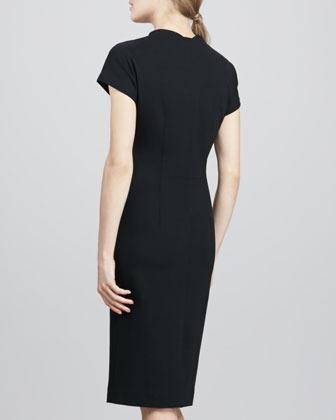 Diane von Furstenberg Maizah Front-Zip Sheath Dress