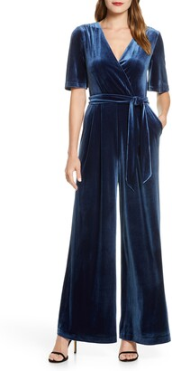 Eliza J Wide Leg Faux Wrap Jumpsuit