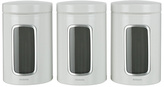 Brabantia Set of 3 Canisters - White