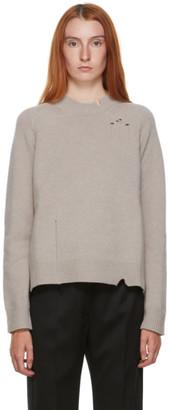 Maison Margiela Beige Destroyed Sweater
