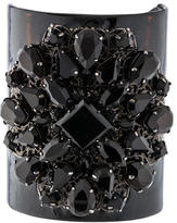 Erickson Beamon Crystal & Leather Cuff Bracelet