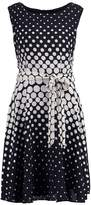 Wallis MULTI SPOT FIT&FLARE Summer dress black,white