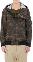 Nlst Men's Camouflage Hooded Jacket-Dark Green Size M