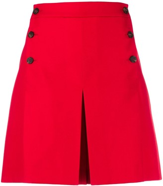 Mulberry side buttoned flared shorts