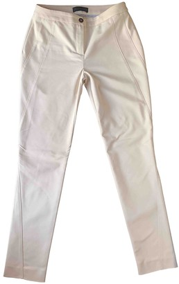 Trussardi Pink Cotton Trousers for Women