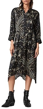 AllSaints Maia Assam Belted Shirtdress